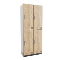 ARTA lockerkast met 4 lockers (2x2)