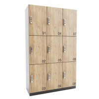 ARTA lockerkast met 9 lockers (3x3)