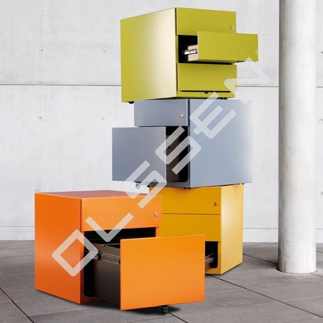 Bisley verrijdbaar ladenblok 1x materiaal 1x for Ladenblok diepte