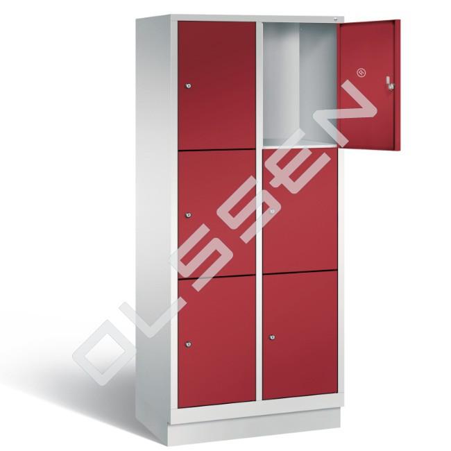 Polar metalen locker met 6 vakken 40 cm breed per vak for Ladeblok 40 cm breed