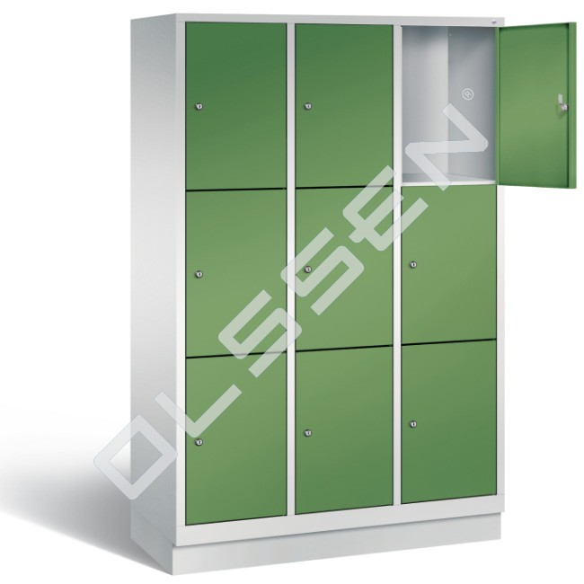 Polar metalen locker met 9 vakken 40 cm breed per vak for Ladeblok 40 cm breed