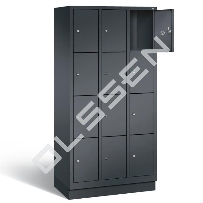 Polar metalen locker met 12 vakken 30 cm breed per vak for Ladenblok 30 cm breed