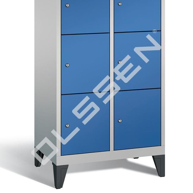Polar metalen locker met 8 vakken 40 cm breed per vak for Ladeblok 40 cm breed