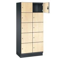 CAMBIO houten locker met 10 vakken - HPL deuren (breed model)