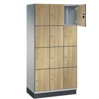 CAMBIO houten locker met 12 vakken - HPL deuren (smal model)