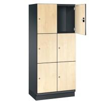 CAMBIO houten locker met 6 vakken - HPL deuren (breed model)