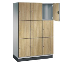 CAMBIO houten locker met 9 vakken - HPL deuren (breed model)