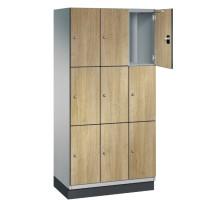 CAMBIO houten locker met 9 vakken - HPL deuren (smal model)