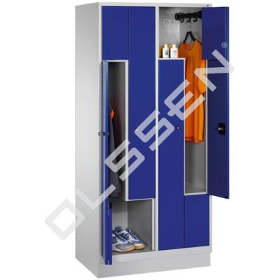 CLASSIC Z-Locker 4-Persoons met vouwmechanisme deuren