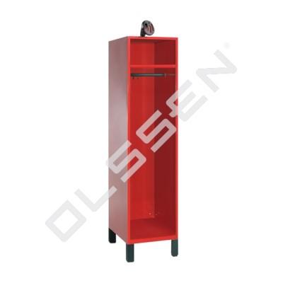 Brandweerkast met helmhouder op de kast (type 5)