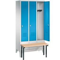 EXPRESS kledinglockers met voorgebouwde zitbank (90 cm breed)