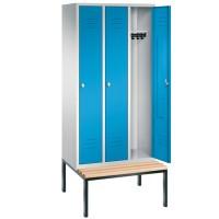 EXPRESS Kledinglockers met ondergebouwde zitbank (90 cm breed)