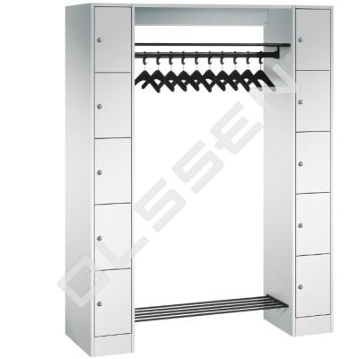 EXPRESS Garderobe met Kapstok en 10 lockers (2x5)