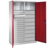 Werkplaatskast met 24 laden en 2 legborden - 195 x 120 cm (Expre..