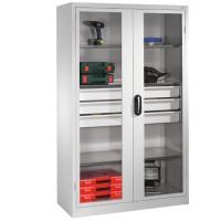 Materiaalkast met 3 grote laden XL - doorzichtige deuren (Classi..