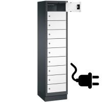 EVOLO Laptoplocker met 10 vakken (230V stopcontact in elk vak)