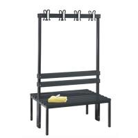 Garderobebank 100 cm breed - Dubbelzijdig met kunststof zitlatten