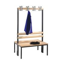 Garderobebank 100 cm breed - Dubbelzijdig met houten zitlatten