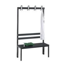 Garderobebank 100 cm breed - Enkelzijdig met kunststof zitlatten