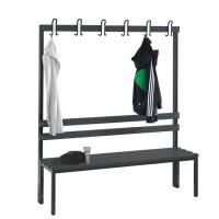 Garderobebank 150 cm breed - Enkelzijdig met kunststof zitlatten