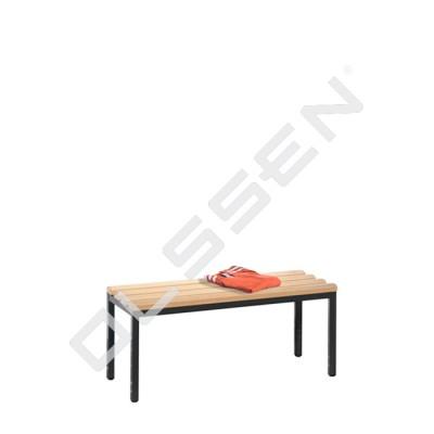 Kleedkamerbank 100 cm breed met houten zitlatten