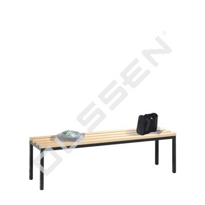 Kleedkamerbank 150 cm breed met houten zitlatten
