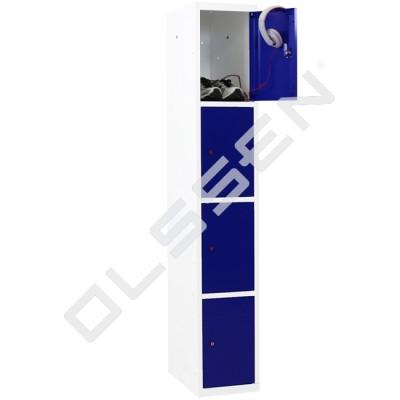 Metalen Locker met 4 vakken - smal model (Capsa)