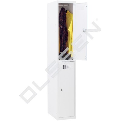 CAPSA Halfhoge lockerkast met 2 lockers (smal model)