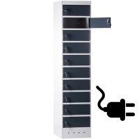 CAPSA Laptop locker met 10 vakken (Elk vak Inclusief stroomaansluiting)