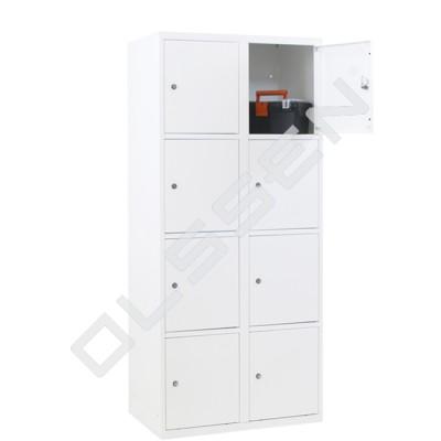 CAPSA metalen locker met 8 brede vakken (wit)
