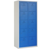 BASIC Kledinguitgifte locker met 10 vakken (Incl. centrale deur)