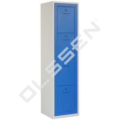 BASIC Kledinguitgifte locker met 4 vakken (Incl. centrale deur)