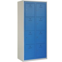 BASIC Kledinguitgifte locker met 8 vakken (Incl. centrale deur)