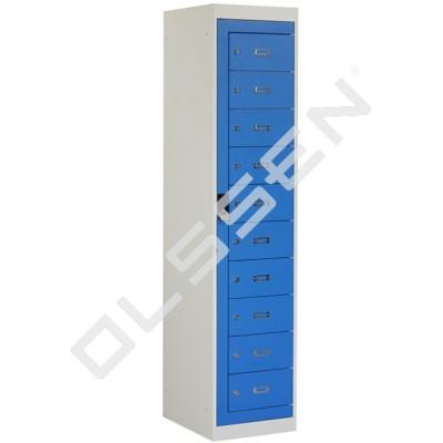 BASIC Kleding distributielocker met 10 vakken (Incl. centrale deur)