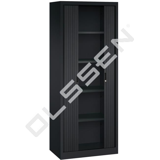 Roldeurkast H195 X B80 Cm Inclusief 4 Legborden