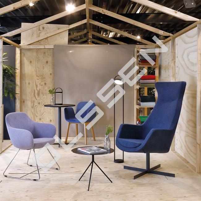 proline comfort lounge stoel met stalen frame lo s 3800