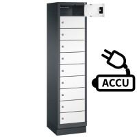 Fietslocker met 10 vakken inclusief stroomaansluiting voor accu'..