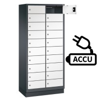 Fietslocker met 20 vakken inclusief stroomaansluiting voor accu's