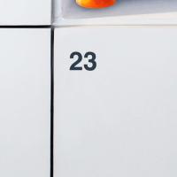 Folienummering lockers (zwart - aluminium - antraciet)