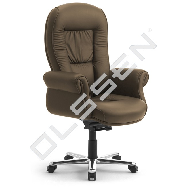 Luxe Leren Bureaustoel.Leyform Leren Bureaustoel King Doge High Executive