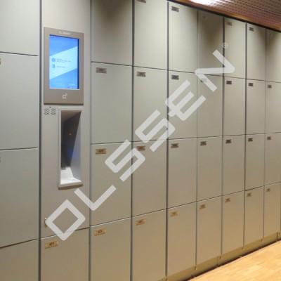 Lockerkast met automatisch blussysteem (8-vaks) (voor veilig opladen en bewaren Lithium-ion-accu's)