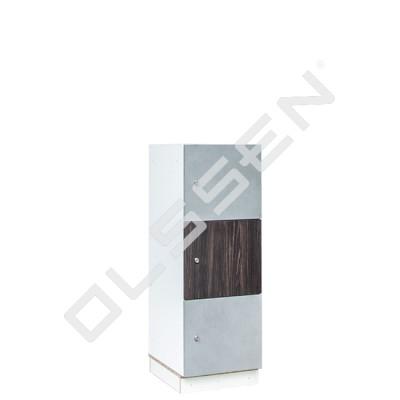 Luvio Houten locker met 3 vakken (Laag model)
