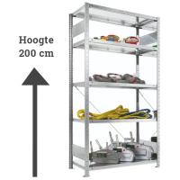 Legbordstelling - H. 200 x B. 100 cm - 100 kg draagkracht per legbord