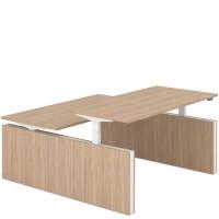 FORZA Duo bureau met twee panelen (Elektrisch in hoogte verstelbaar)