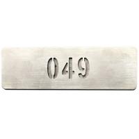 Olssen RVS Nummerplaatje (zonder slotgat)