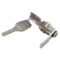 Cilinderslot met 2 sleutels voor lockers en garderobekasten