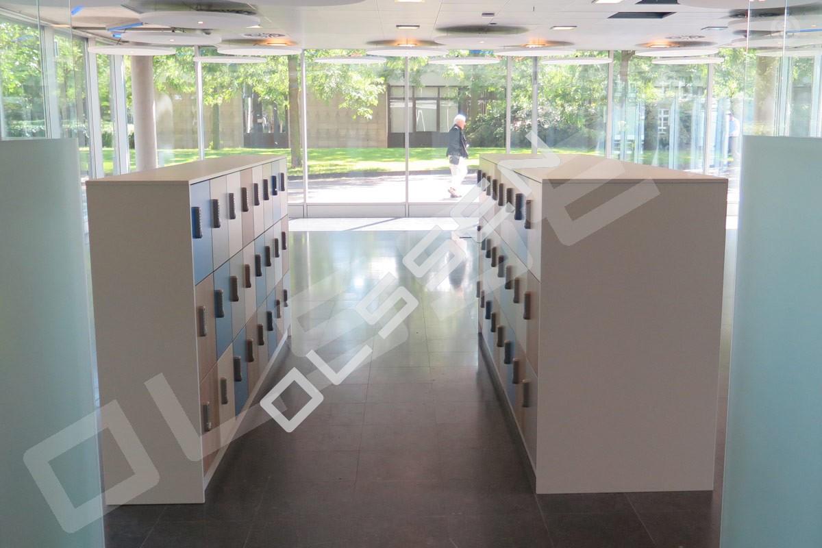 Houten lockers voor uw kantoorinrichting